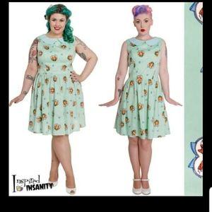Foxy Mini Mint Dress